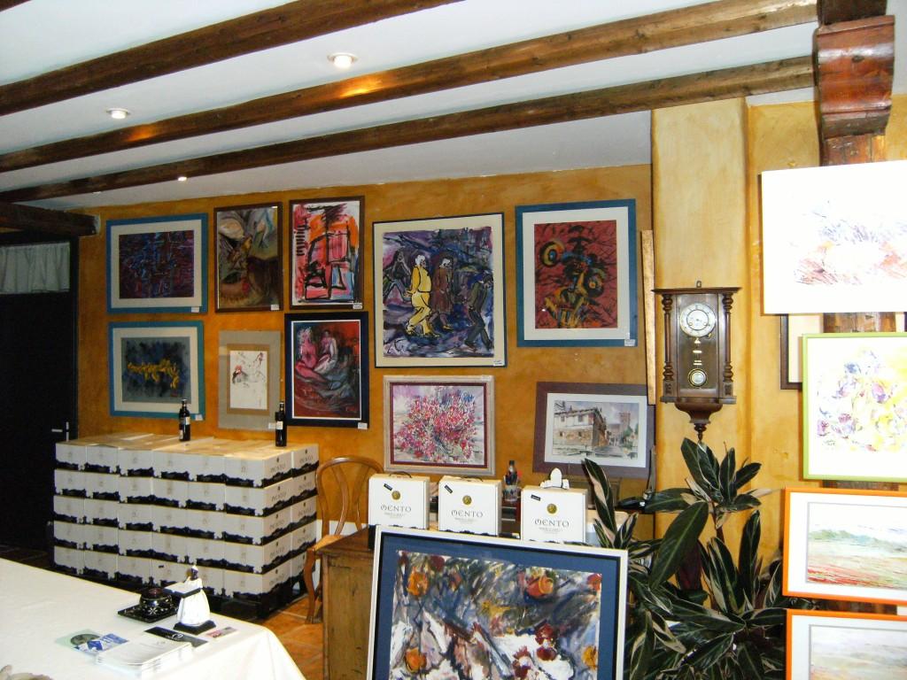 Tienda de arte de Bodegas Mento en Tudela de Duero