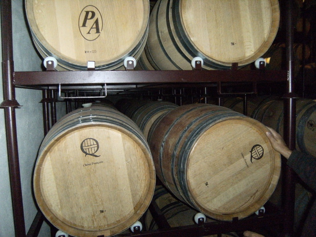 Barrels in Bodegas Páramo Arroyo