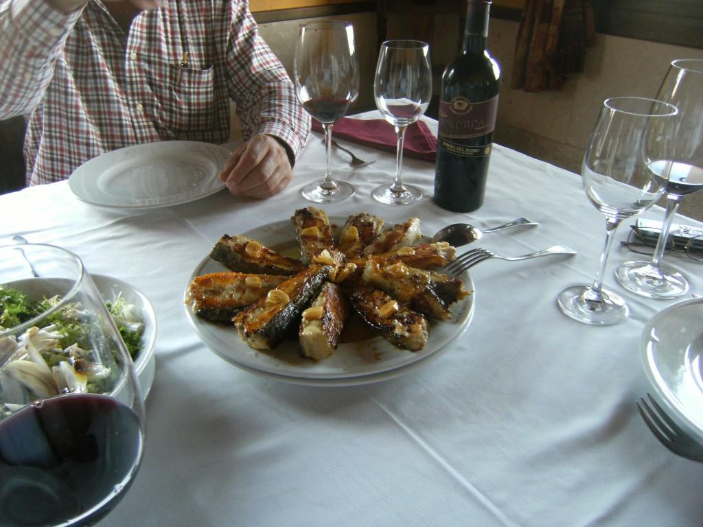 Viña Solorca 2004 vendimia seleccionada y un buen pescado.
