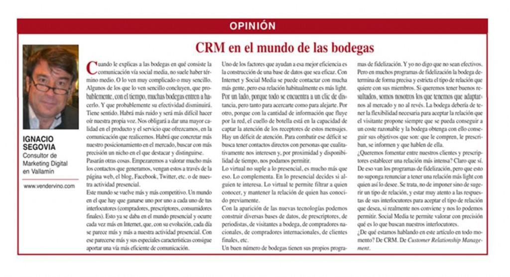 CRM en el mundo de las Bodegas 2
