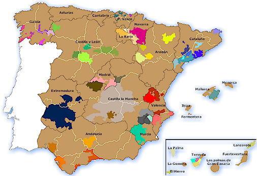 Mapa Denominaciones de Origen
