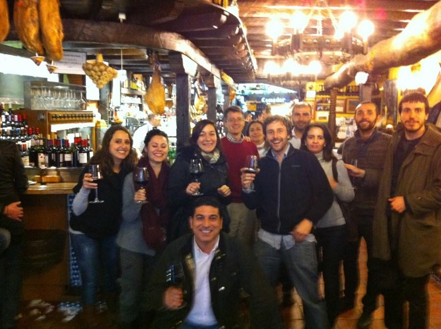 De tapas en el restaurante El Lagar de Isilla