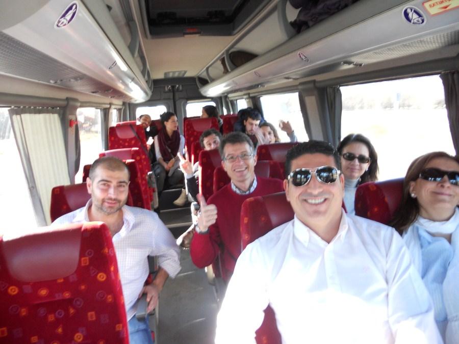 Ambiente en el viaje a Aranda de Duero